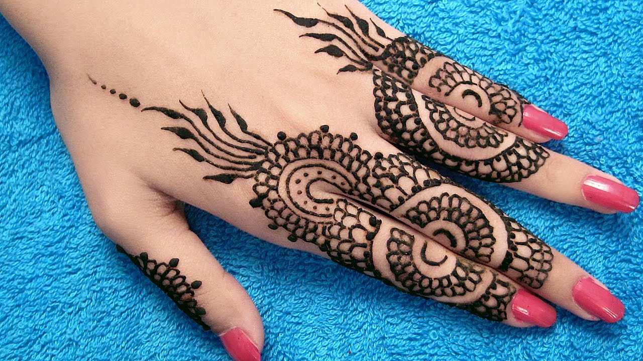 Finger Mehndi Designs for Eid 2018