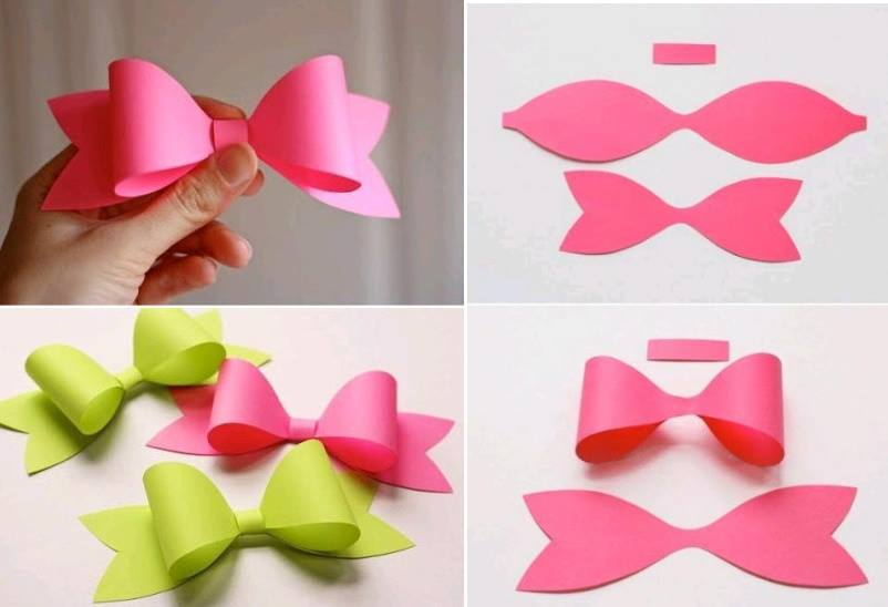 Make paper craft bow tie art and creativity for How to make easy crafts step by step