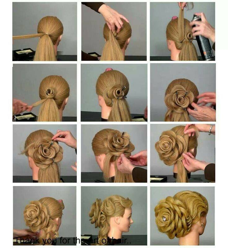 Beautiful Flower Hairstyle Tutorial for Women