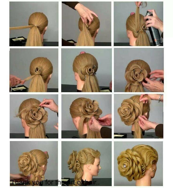 Как сделать самой прически с длинными волосами