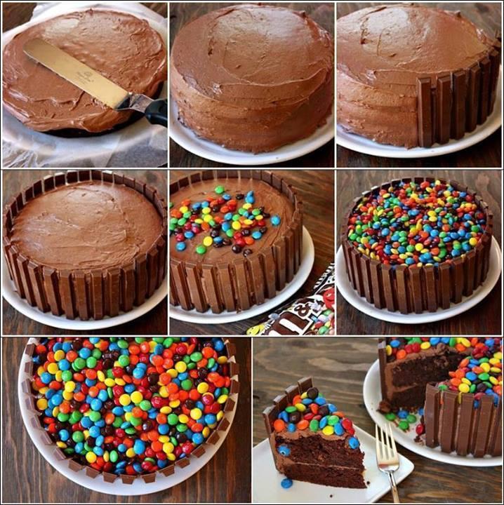 Kit Kat Chocolate Cake Art and Creativity kfoodscom
