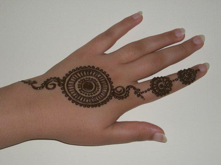 Back Hand Flower Mehndi Idea 2015