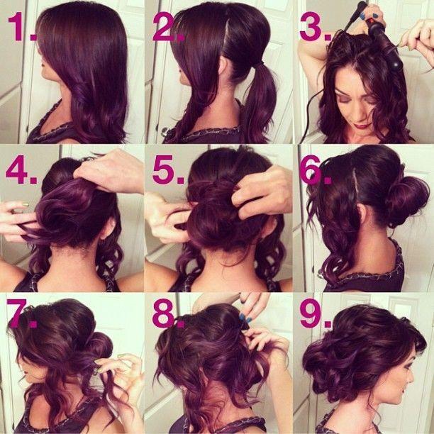 Как сделать поэтапно прически на средние волосы