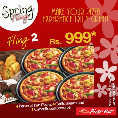 Pizza Hut Spring Fling Deals