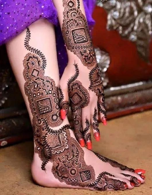 full foot bridal mehndi design dec 2015 mehandi designs