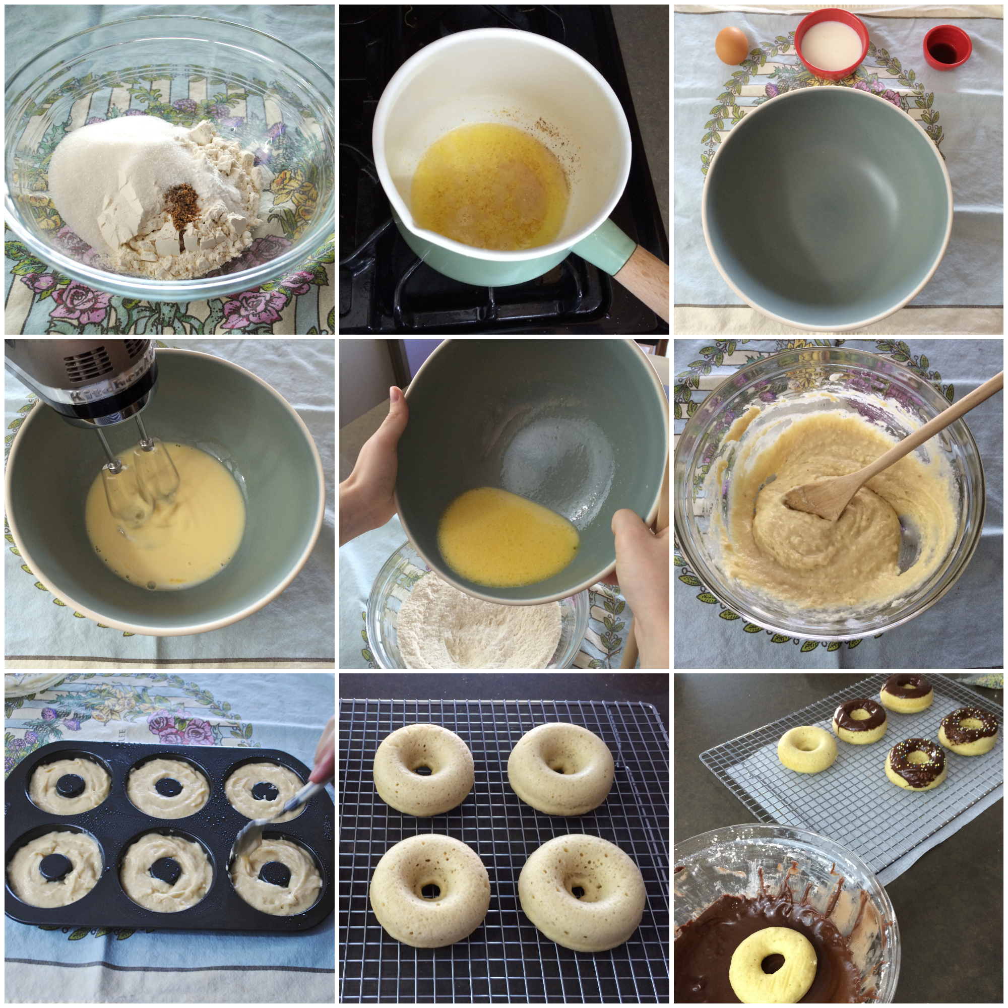 Brown Butter Baked Donuts