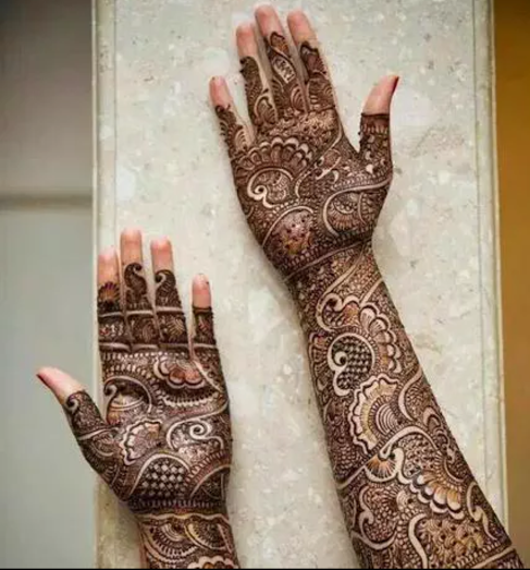 Mehndi Designs Full Hands Marriage : Full hand wedding style mehndi mehandi designs kfoods