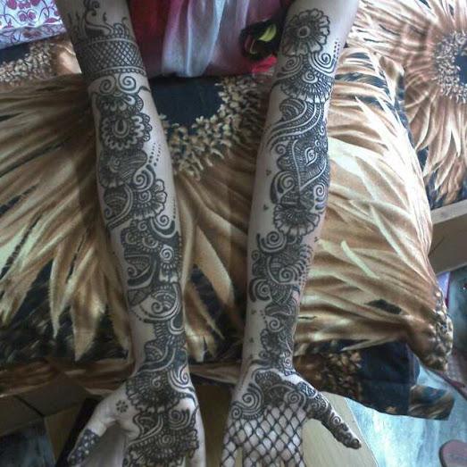 Womens Latest Full Arm Mehndi Design