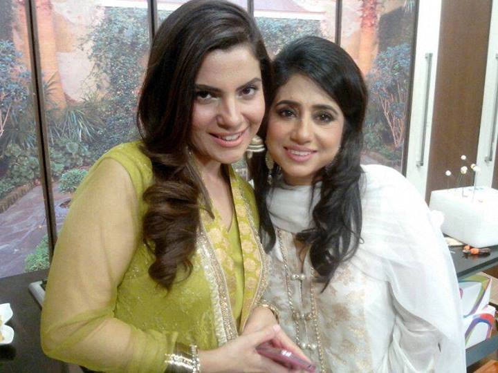 Rida Aftab with Kiran Host