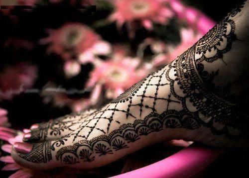 full feet mehndi design