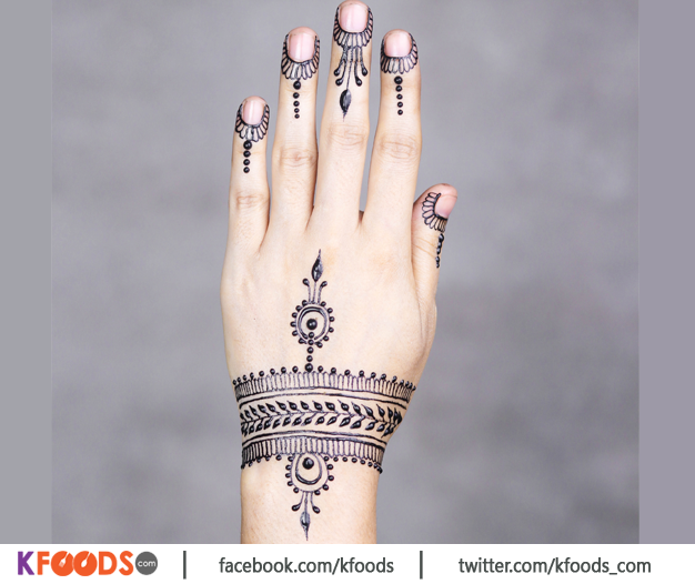 New Pakistani Front Hand Mehndi Design