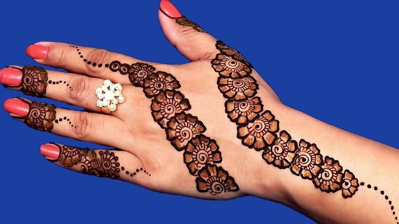 Back Hand Arabic Eid Mehndi Design