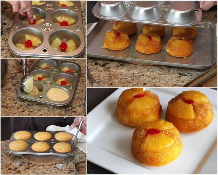 Delicious Pineapple Upside-Down Cupcakes