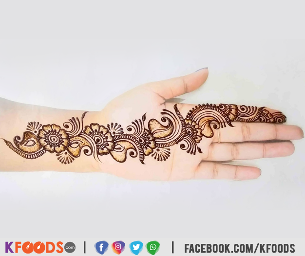 Stylish Front Hand Mehndi Design 2020
