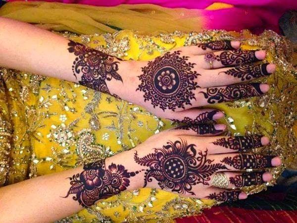Latest Tikki Style Mehndi Designs