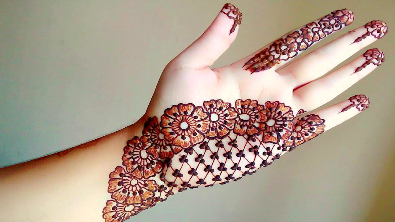 Latest Indian Front Hand Mehndi Design 2020