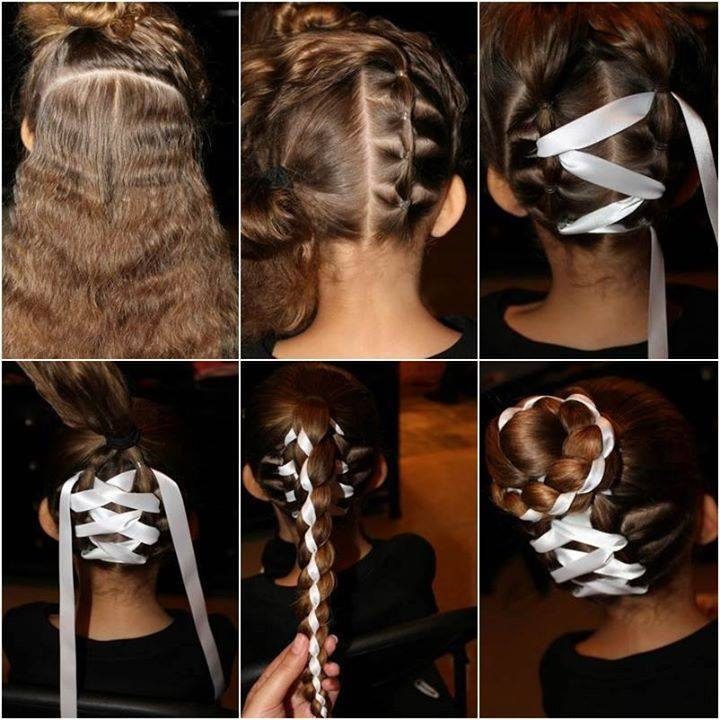 Ribbon Hairstyle for Girls 2015