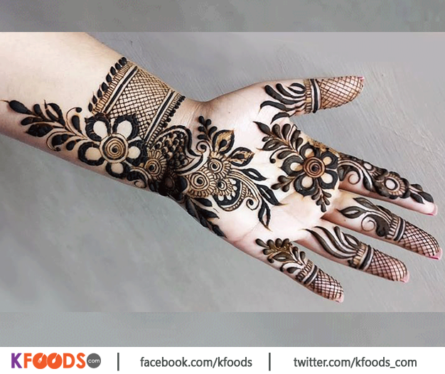 Latest Front Hand Mehndi Design 2021
