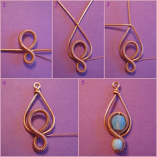 Beautiful Wire Make Earpiece Jewelry