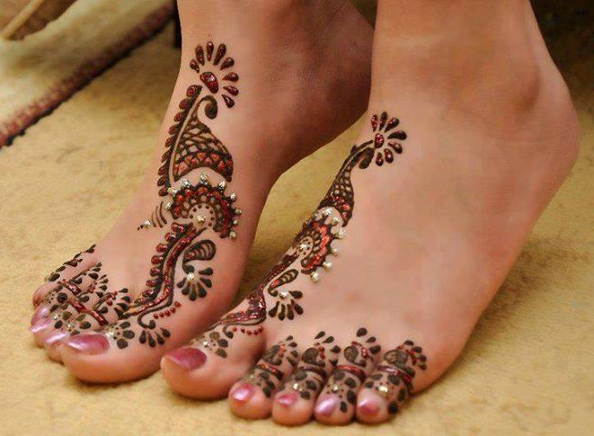 eid mehndi for feet