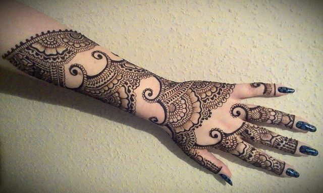 Full Arm Mehndi : Full arm mehndi design by sobia s salon mehandi designs