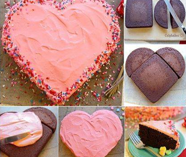 Heart Shape Cake Idea