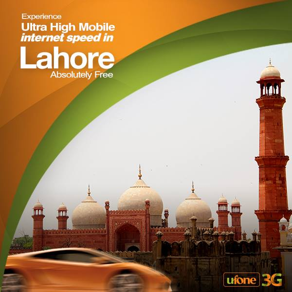 Free Ufone 3G in Lahore