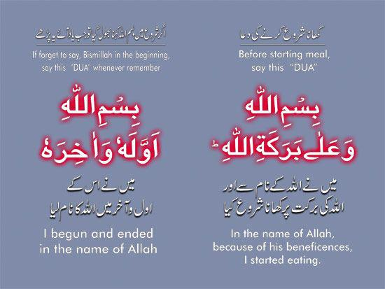 Dua For Eating Food