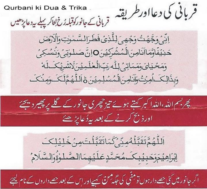 Qurbani Ki Dua or Trika !