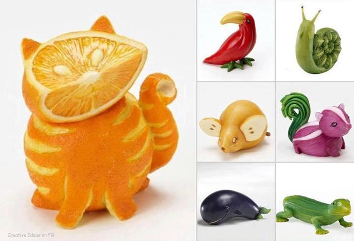 Как сделать животное из овощей