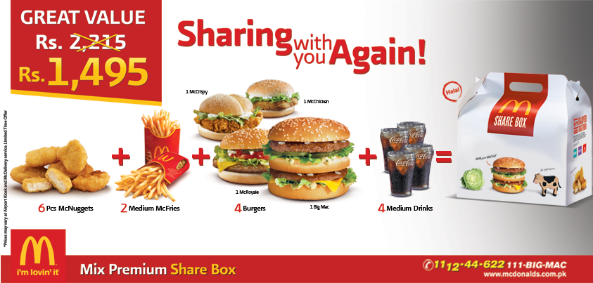 McDonalds Share Box Deal !