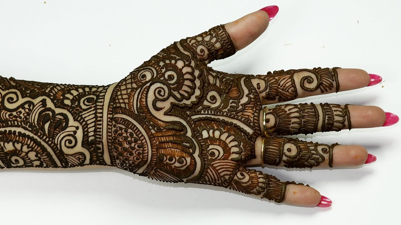 Latest Arabic Eid Mehndi Design 2019