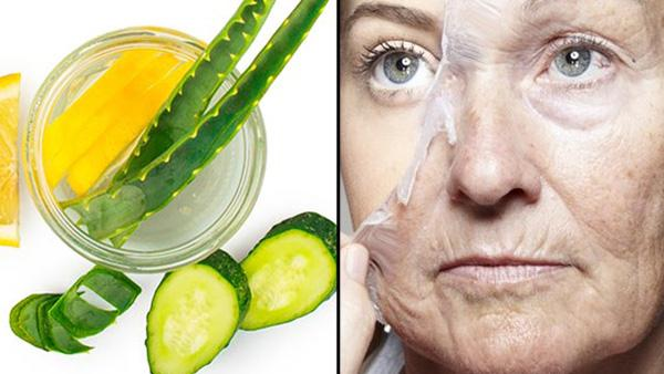 Homemade Anti-Aging Cucumber Face Mask