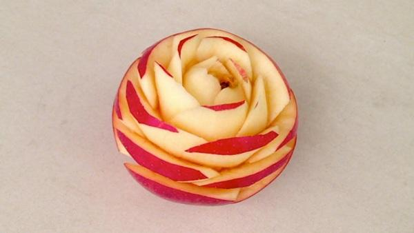Make Apple Flower For Salad